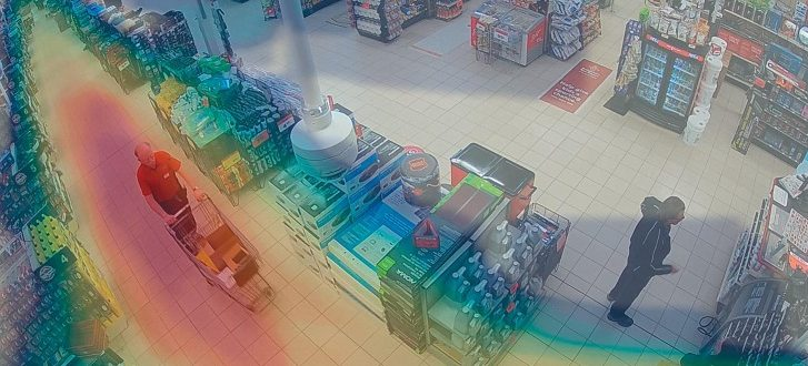 نقشه تردد افراد در فروشگاه