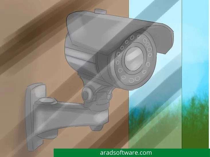 اگر دوربین مداربسته بیرونی را پشت شیشه نصب کرده اید ، به عنوان مثال در محفظه فضای باز ، مطمئن شوید که لنز اصلی به لنز خارجی نزدیک باشد.