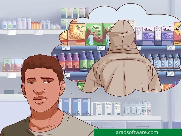 درمورد مقابله با یک دزد مغازه تصمیم بگیرید.