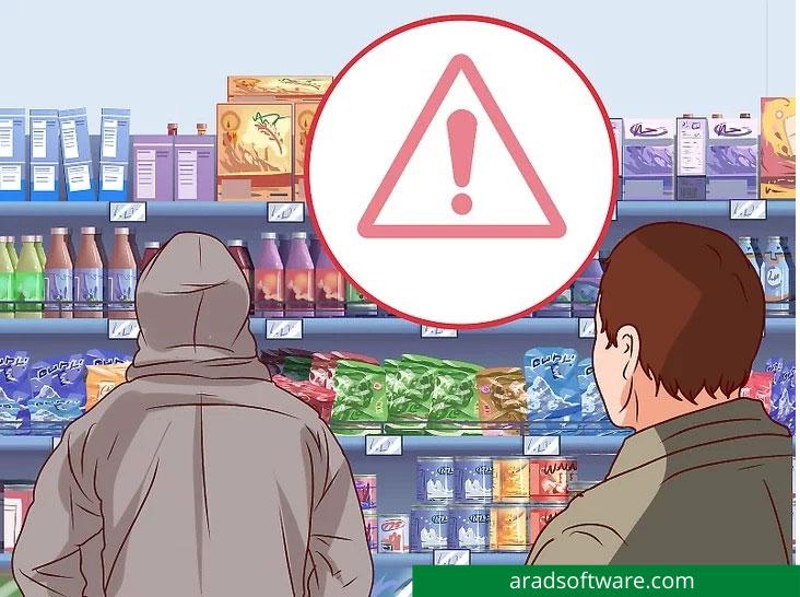 شناسایی و برخورد با دزد فروشگاهی